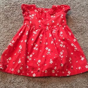 Toddler 18 M Carter's Red and White Flower Dress